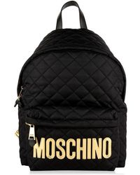 Moschino Quilted Large Backpack - Black