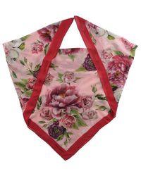 Dolce & Gabbana Children Girls Peonie Scarf - Pink