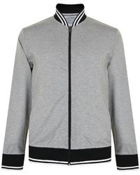 6c0c88029 Tipped Jersey Bomber Jacket - Gray