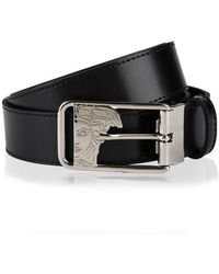 Versace Medua Buckle Belt - Black