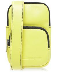 McQ Lanyard Crossbody Bag - Yellow