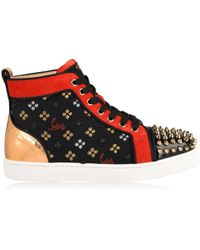 Christian Louboutin - Spike Loubisky High Top Trainers - Lyst