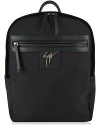 Giuseppe Zanotti Logo Canvas Backpack