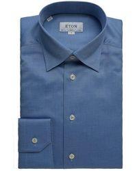 Eton of Sweden Slim Fit Micro Dot Shirt - Blue