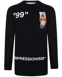 Off-White c/o Virgil Abloh Summer Long Sleeve T Shirt - Black