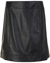 BOSS Orange - Badany Leather Skirt - Lyst