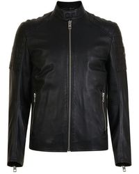 BOSS Jaysee Leather Jacket - Black