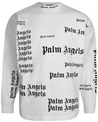 Palm Angels Ultra Logo Long Sleeve T Shirt - White