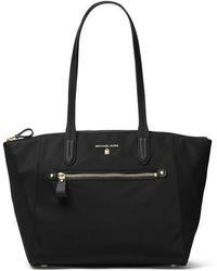 MICHAEL Michael Kors Nylon Kelsey Medium Top Zip Tote Bag - Black