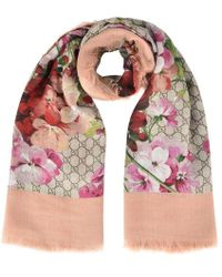 Gucci Floral Gg Scarf - Multicolor