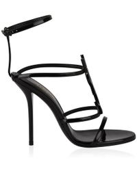 Saint Laurent Cassandra Heeled Sandals - Black