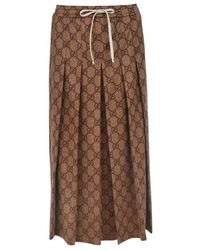 Gucci Gg Skirt - Brown