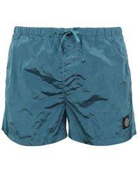 Stone Island Nylon Swim Shorts - Blue