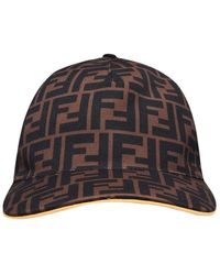 Fendi Ff Cap - Brown