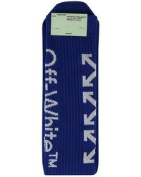 Off-White c/o Virgil Abloh Arrow High Knit Socks - Blue