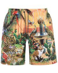 Dolce & Gabbana - Latin King Swim Shorts - Lyst