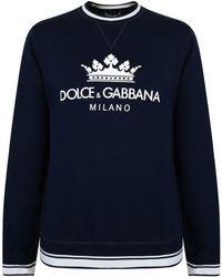Dolce & Gabbana - Milano Logo Crew Sweatshirt - Lyst