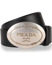 Prada - Milano Buckle Belt - Lyst