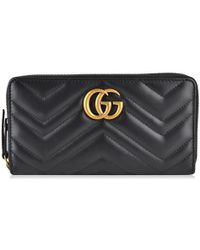 Gucci Marmont Zip Purse - Black