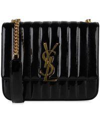 Saint Laurent - Vicky Patent Bag - Lyst