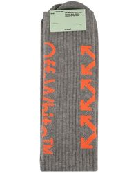 Off-White c/o Virgil Abloh Arrow High Knit Socks - Gray