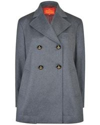 Vivienne Westwood Double Breasted Peacoat - Gray