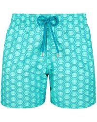 Vilebrequin Anchor Pattern Swim Shorts - Blue