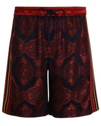 Gucci Baroque Jacquard Shorts - Red