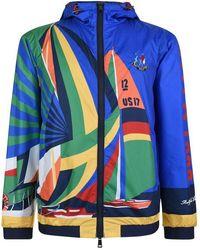 Polo Ralph Lauren - Half Print Windbreaker Jacket - Lyst