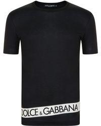 Dolce & Gabbana - Band Logo T Shirt - Lyst