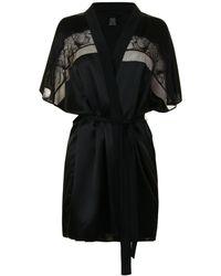 CALVIN KLEIN 205W39NYC - Silk Robe - Lyst