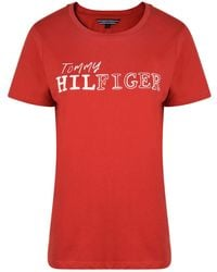 Tommy Hilfiger - Logo Short Sleeve T Shirt - Lyst