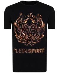 Philipp Plein Tiger Logo Short Sleeve T Shirt - Black