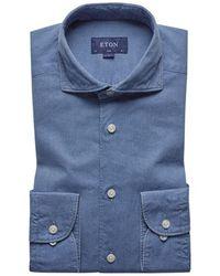 Eton of Sweden Lightweight Denim Shirt - Blue