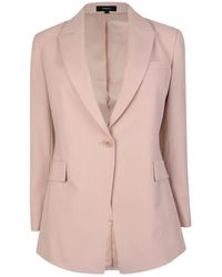 da469ae9a246 Theory Robiva Single-breasted Crepe Jacket in White - Lyst