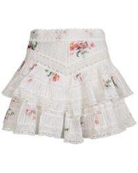 Zimmermann Floral Print Lace Shorts - White