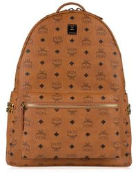 MCM Stark Spike Backpack - Brown