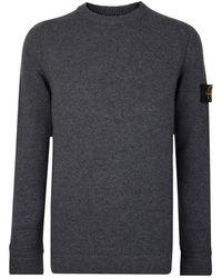 Stone Island Wool Sweater - Gray