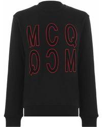 McQ Velvet Logo Sweatshirt - Black