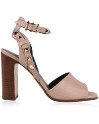 efa81a030be Lyst - Valentino Rame Rockstud Ankle Strap Sandal
