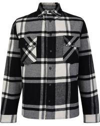 d0a307278335 Off-White c o Virgil Abloh - Stencil Plaid Flannel Shirt - Lyst