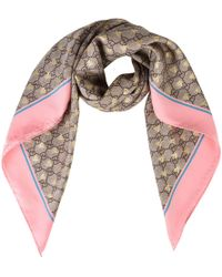 Gucci - Bee Gg Scarf - Lyst