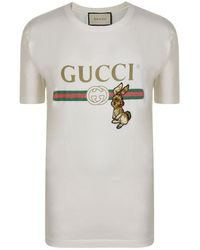 557ac03f Gucci Fake Logo T-shirt in White for Men - Lyst