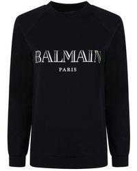 Balmain Logo Sweatshirt - Black
