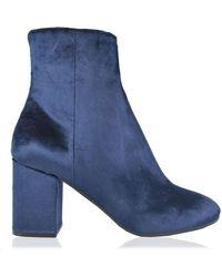 Balenciaga Ville Booties - Blue