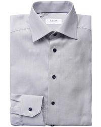 Eton of Sweden - Slim Fit Weave Shirt - Lyst