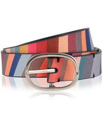 Paul Smith Swirl Print Belt - Multicolour