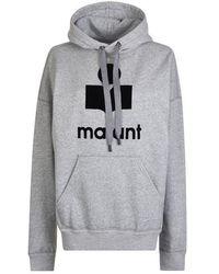 Étoile Isabel Marant Logo Hooded Sweatshirt - Gray