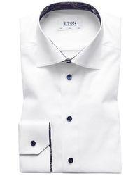 Eton of Sweden Slim Fit Twill Shirt - White