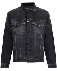 Palm Angels Logo Denim Jacket - Black